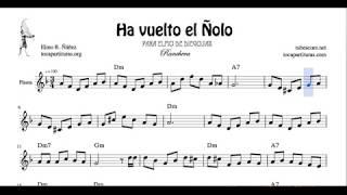 Ha vuelto el Ñolo Partitura de Flauta Travesera o Dulce Tutorial Flute and Recorder