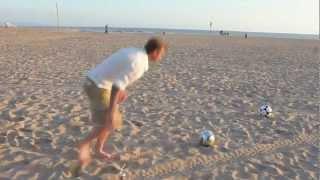 MUST SEE! The Legend David Beckham kicks ball in bin (50m away) HD