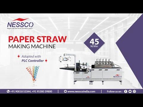 PAPER STRAW MAKING MACHINE || NESSCO || PAPER STRAW MACHINE