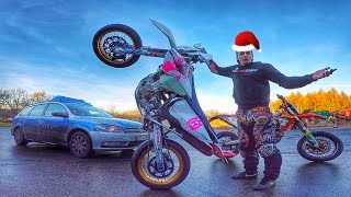Cold Supermoto Stunt Session | Christmas Special 2016