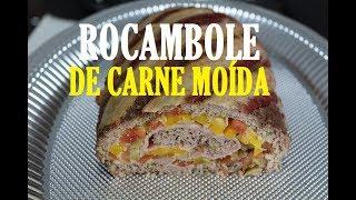 ROCAMBOLE DE CARNE MOÍDA (RECHEADO, DELICIOSO!)