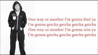 One Direction-One Way Or Another (Lyrics+Pictures)