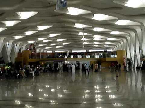MOROCCO AIRPORT AT NIGHT SOLAR CELLS Marrakesh Morocco