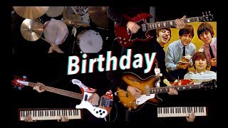 Birthday - Guitar, Bass, Drums and Piano Cover - Full Instrumental
