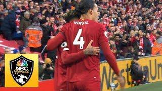 Virgil van Dijk heads Liverpool into the lead against Brighton | Premier League | NBC Sports