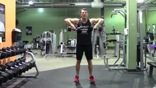 Dumbbell Upright Row - HASfit Trap Exercise Demonstration - DB Upright Row - Traps Exercises