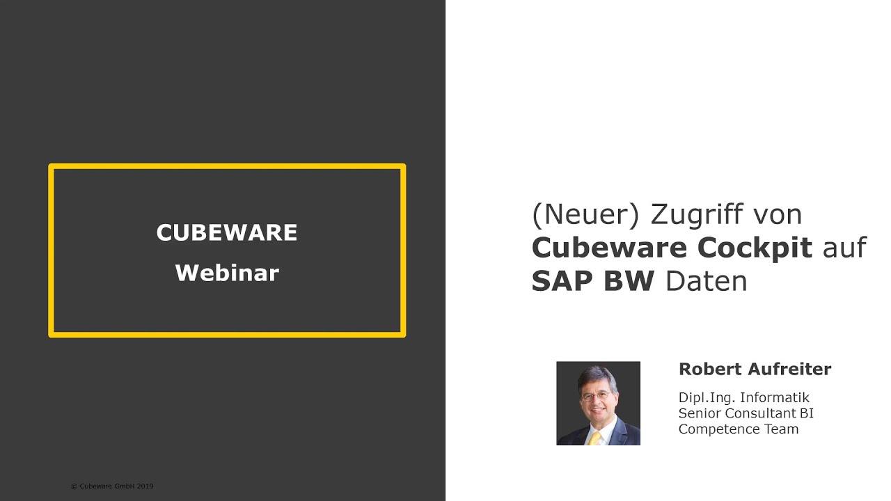 (Neuer) Zugriff von Cubeware Cockpit auf SAP BW Daten