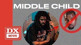"""J. Cole """"Middle Child"""" Seems To Be Taking Shots At Kanye West & His Beef With Drake"""