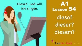 Learn German | A1 - Lesson 54 | Demonstrativartikel