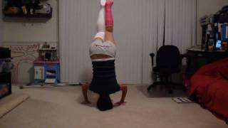 doing yoga headstand with a broken leg