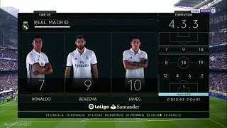 Real Madrid VS Valencia 2017  LineUp Live