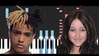 XXXTENTACION , Noah Cyrus - Again (Piano Tutorial)