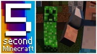 5 Second Minecraft - Creeper Surprise