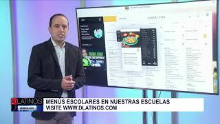 Los menus escolares en la página web de D'Latinos