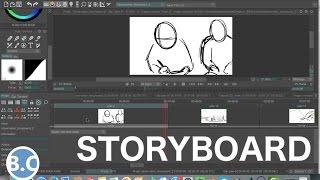 Comment faire un STORYBOARD/ANIMATIC sur TVPaint | TUTORIEL width=