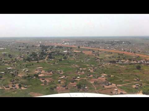 Landing at Jouba Airport – South Sudan