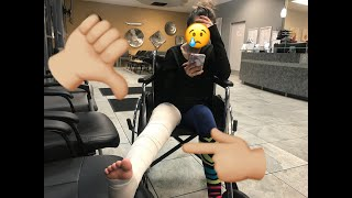 BROKE MY KNEE FIRST TIME SNOWBOARDING?? *not clickbait*