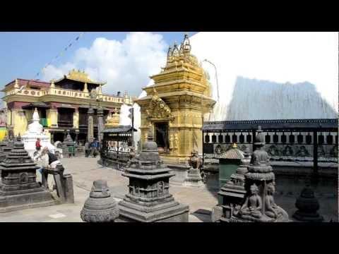 The Swayambhunath Buddhist Temple in Kathmandu