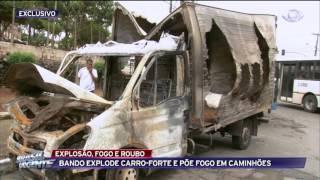 Rajadas de fuzil marcam roubo a carro-forte em São Mateus