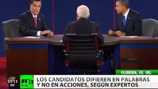 Debate final en Florida: Obama y Romney solo difieren en las palabras y no en las acciones