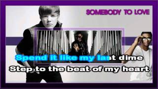 Justin Bieber - Somebody To Love (Karaoke)