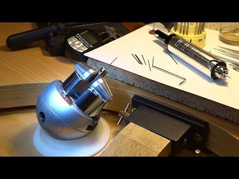 Fémfúró, 1mm-es csigafúró élezése házilag - Sharpening a 1mm metal drill at home