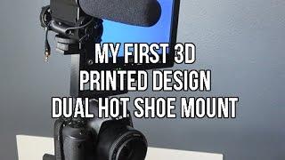 My First 3d Modeling Design | 123d Design | 3d Printed Dual Hot Shoe Mount