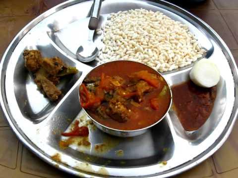 Fish Curry & Beaten Rice At Malekhu, Nepal