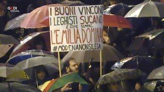 Sardine a Modena: videoracconto di una piazza che... Non si Lega