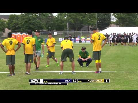 Video Thumbnail: 2013 WFDF World U-23 Championships, Men's Pool Play: USA vs. Australia