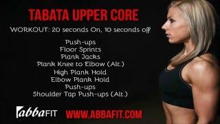 AbbaFit: Tabata Upper Core 5 minute Workout (Walk-through)
