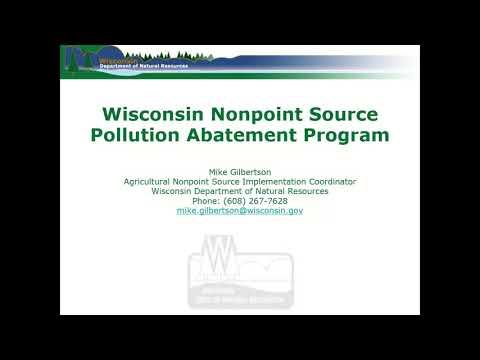 Nonpoint Source Pollution Abatement Program Webinar