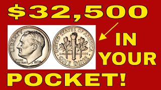 5 ROOSEVELT DIMES WORTH MONEY IN YOUR CHANGE! VALUABLE DIMES TO LOOK FOR!