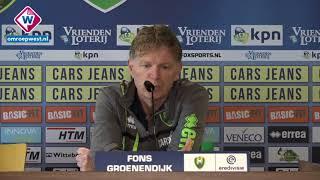 ADO-trainer Fons Groenendijk blikt vooruit op ADO - AZ