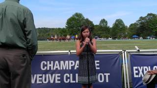 Lily Olsen sings at Saratoga polo 07/24/2016