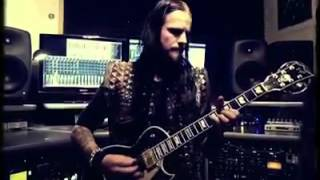 (Dimmu Borgir) Shagrath playing guitar in studio