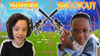 SNIPER SHOOT OUT ON FORTNITE WITH ROKEFN - BATTLE ROYALE