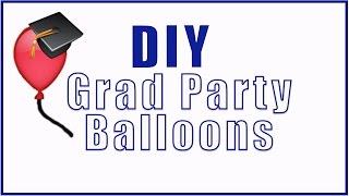DIY Grad Party CONFETTI Balloons