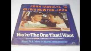 "SOUNDTRACK GREASE JOHN TRAVOLTA AND OLIVIA NEWTON JOHN PLAK RECORD 7"""