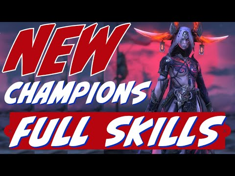 New champs all skills | test server | full breakdown | Raid Shadow Legends