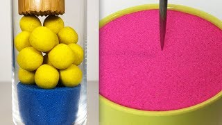 Very Satisfying and Relaxing Compilation 93 Kinetic Sand ASMR