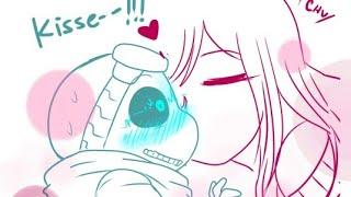 ECHO!Frisk Kisses TK!Sans (Undertale AU Comic Dub: QUANTUMTALE)