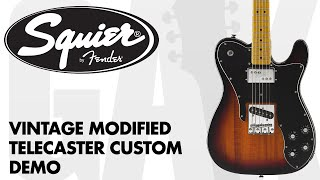 Squier - Vintage Modified Telecaster Custom Demo at GAK