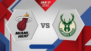Miami Heat vs. Milwaukee Bucks - December 17, 2018