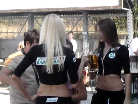 Moldova Girls moldeling with beer at Oktoberfest in Chisinau Moldova Hostel Hostels Tiraspol