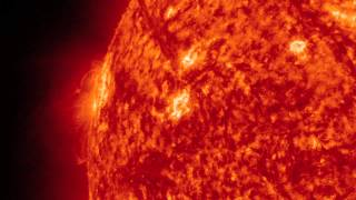 Giant Prominence Erupts - April 16, 2012