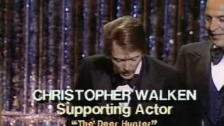 """Christopher Walken winning an Oscar®  for """"The Deer Hunter"""""""