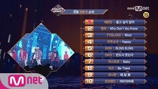 What are the TOP10 Songs in 3rd week of June? M COUNTDOWN 170615 EP.528