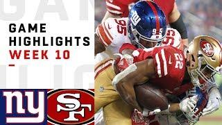 Giants vs. 49ers Week 10 Highlights   NFL 2018