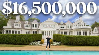 INSIDE a MASSIVE $16 Million Hamptons Home with SECRET ROOMS